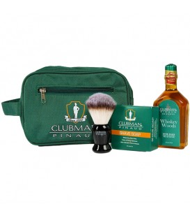 Clubman Shave Essentials Dopp Kit