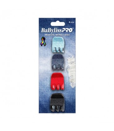 BabylissPRO Hair Clips Small 4pc