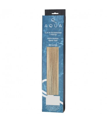 """AQUA Hair Extensions Straight Clip In 20"""" 18/22 Balayage"""