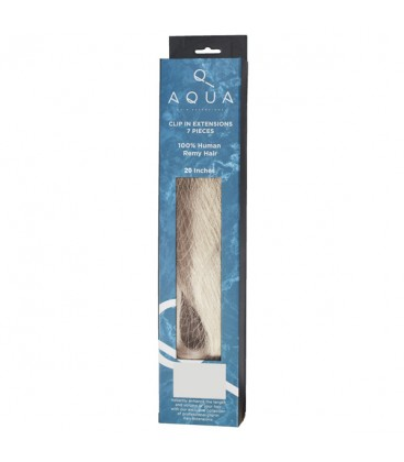 """AQUA Hair Extensions Straight Clip In 20"""" Icy Blonde"""