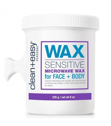 Clean+Easy Sensitive Microwave Wax for Face & Body - 226g