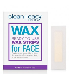 Clean+Easy Ready-To-Use Wax Strips for Face - 12pc