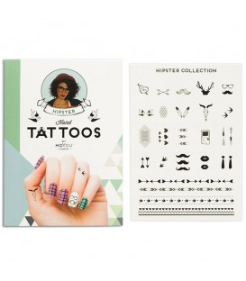 MoYou London Hipster Hand Tattoo Black 01