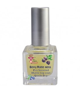 OUT OF STOCK -- Mini Mani Moo Berry Matte-ness Scented Top Coat