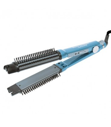 """BaByliss PRO OMNISTYLER 2-in-1 Curling Brush & Flat Iron 1-1/4"""""""