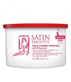 Satin Smooth Wild Cherry Hard Wax - 397g