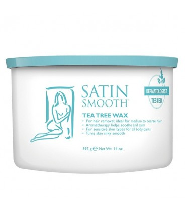 Satin Smooth Tea Tree Cream Wax With Eucalyptus - 397g - SSW14TTG