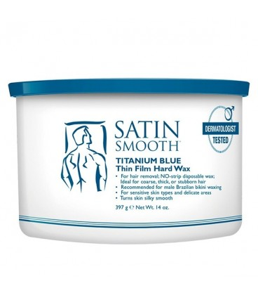 Satin Smooth Titanium Blue Hard Wax - 397g - SSW14MPG