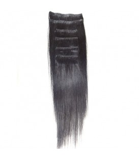 Hairworx Clip on Extensions Black 6pc - 20""