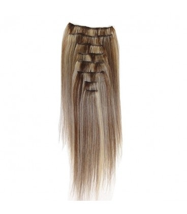 Hairworx Clip on Extensions Dark Blonde 8pc - 18""