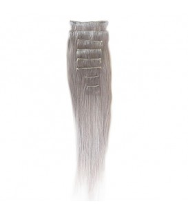 Hairworx Clip on Extensions Silver Grey 8pc - 14""