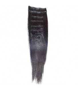 Hairworx Clip on Extensions Black 8pc - 18""