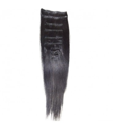 """Hairworx Clip on Extensions Black 8pc - 18"""""""