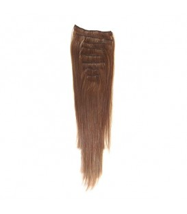 Hairworx Clip on Extensions Medium Brown 8pc - 14""