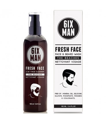 6IXMAN Fresh Face and Beard Wash - 100ml