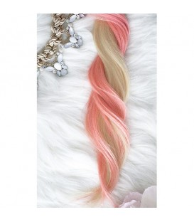 Unicorn Hair Extensions Pink Floss Mix - 16