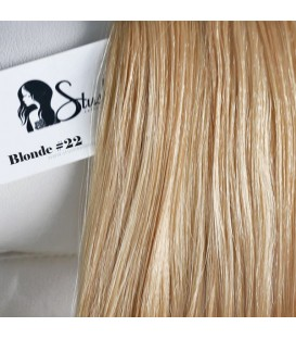 STUSH Peruvian Virgin Remy Clip-ins Blonde 18""
