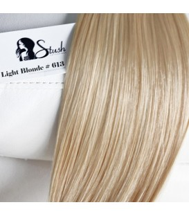 STUSH Peruvian Virgin Remy Clip-ins Light Blonde 18""