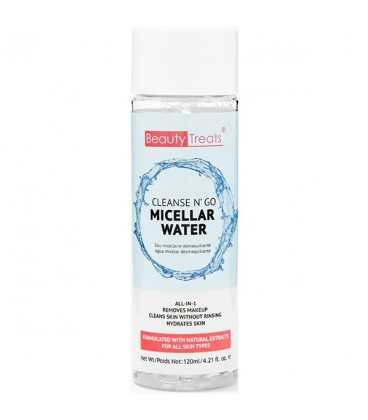 Beauty Treats Cleanse N' Go Micellar Water Makeup Remover - 120ml