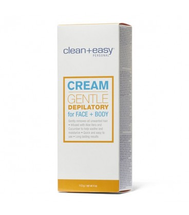 Clean+Easy Gentle Depilatory For Face & Body - 113g