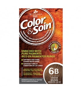 COLOR & SOIN Natural Ammonia Free Hair Color Kit - 6B Cocoa Brown