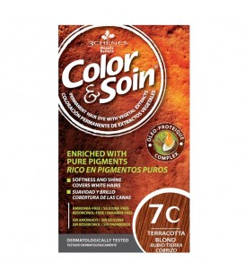 COLOR & SOIN Natural Ammonia Free Hair Color Kit - 7C Terracotta Blond