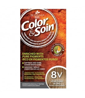 COLOR & SOIN Natural Ammonia Free Hair Color Kit - 8V Veneziano Blond