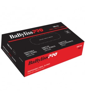 BabylissPro Disposable Vinyl Gloves Small