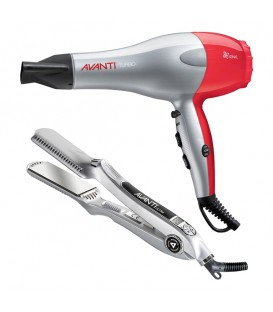 Avanti Styling Duo Ceramic Hairdryer & Flat Iron AVCOMBOPPC