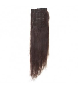 Hairworx Clip on Extensions Dark Brown 6pc - 20""
