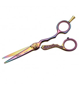 Dazzling Pink 5-1/2 Inch Offset Titanium Shears