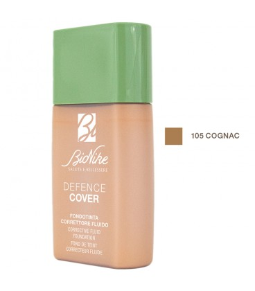 BioNike Defence Cover Corrective Fluid Foundation 105 Cognac - 40ml
