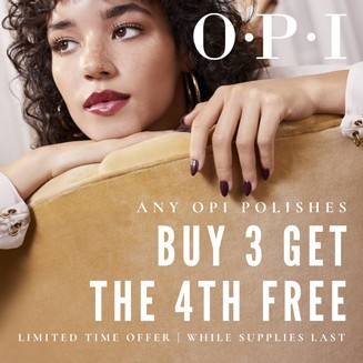OPI Buy 3 get the 4th Item Free